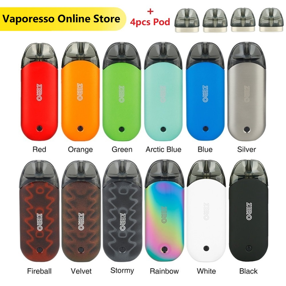 Original Vaporesso Renova Zero Pod Kit With 650mAh Built-in Battery & 2ml Refillable Tank & Pod System Kit E-cig Kit Vs Vinci X