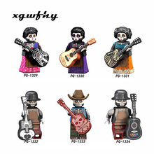 The Day Of Dead Coco Movie Hector Miguel Roslta Oscar guitar Best Collection Building Blocks Toys For Children gift jm140