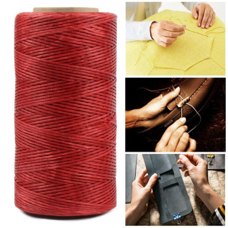 260M 150D кожаный прошитый плоский вощеный нить прочный шнурок DIY для дома KSI999