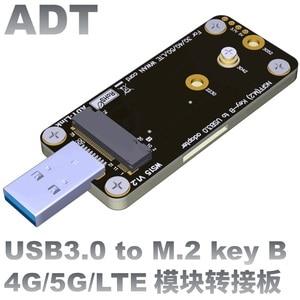 Image 1 - חדש לגמרי Ngff M.2 מפתח B כדי USB3.0 מתאם לוח עבור 3g/4g/5g LTE 3042 3052 WWAN כרטיס גדול Volatge USB3.0 כדי M.2 Riser כרטיס