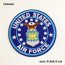 air force Badge Patches for Clothing DIY Stripes Applique Clothes Stickers Iron on Creative Badges Parches russia logo letter embroidered patches for clothing diy stripes applique clothes stickers iron on creative badges biker parches