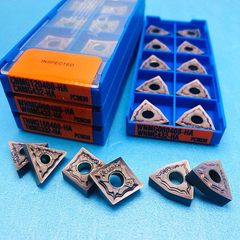 Turning Tool WNMG080404 WNMG080408 TNMG160408 CNMG120404 CNMG120408 HA PC9030 Stainless Steel Original Hard Alloy Blade