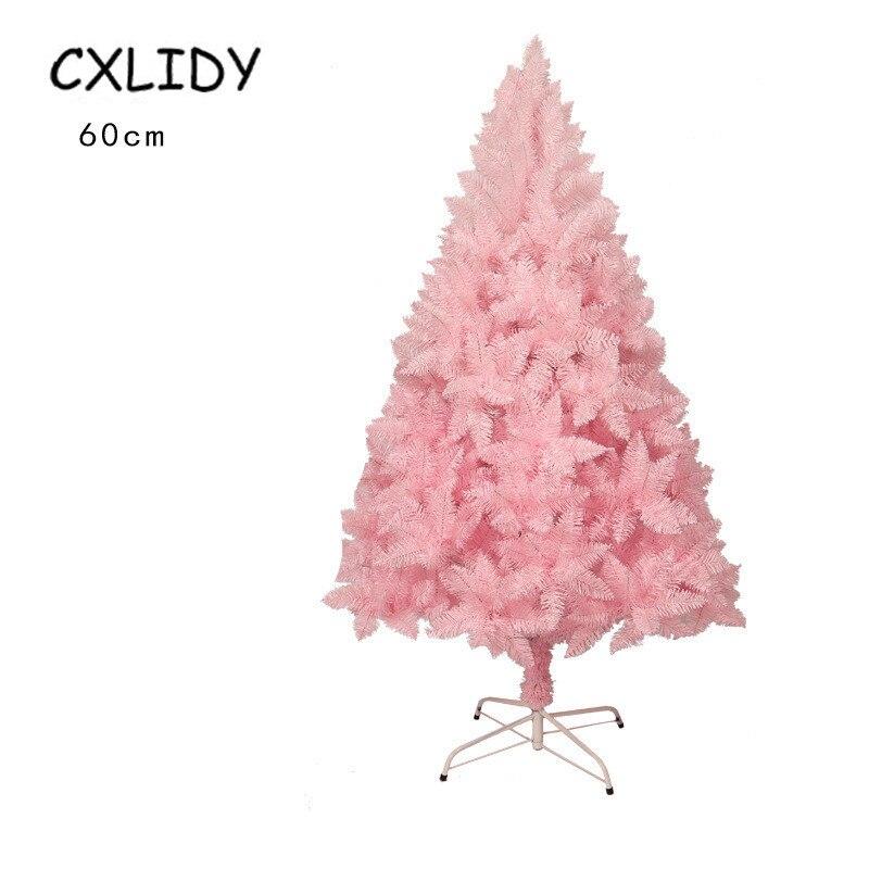 60 см, розовая Рождественская елка для украшения дома, подарок для девочек, розовая Милая Рождественская кедровая елка для рождества, нового...