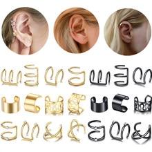 Boucles d'oreilles en forme de feuille pour femmes, accessoire de mode, sans Piercing, faux Cartilage, 12/2020