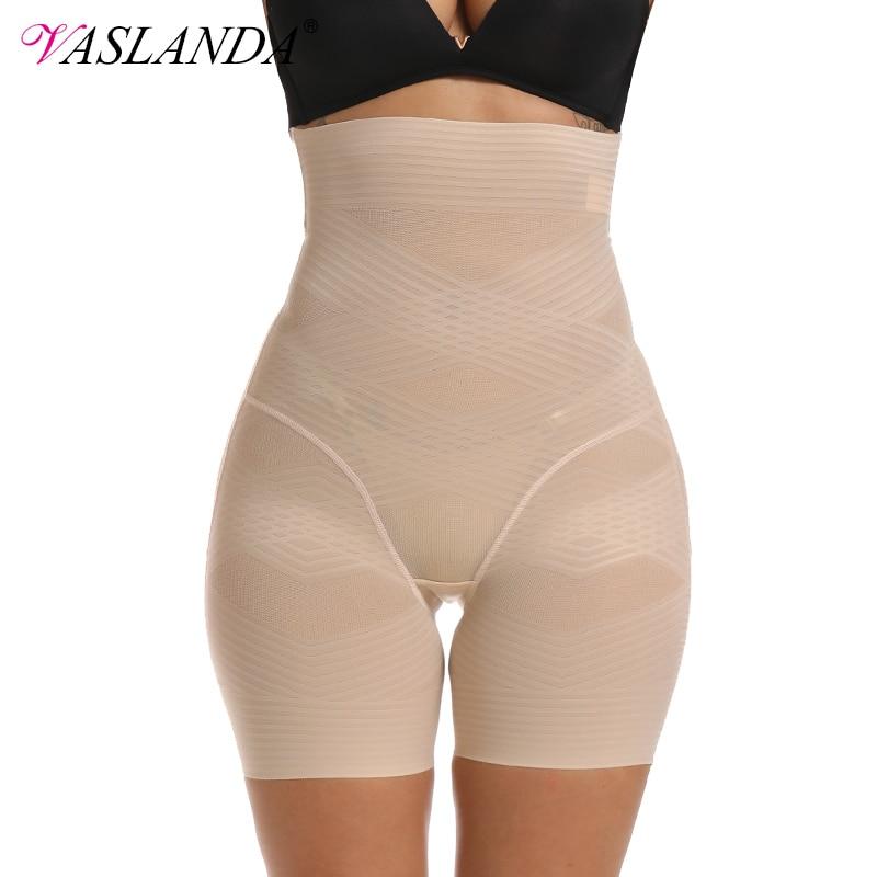 VASLANDA Firm Tummy Control Panties High Waist Trimmer Body Shaper Butt Lifter Shapewear Slimming Underwear Shorts Under Skirts