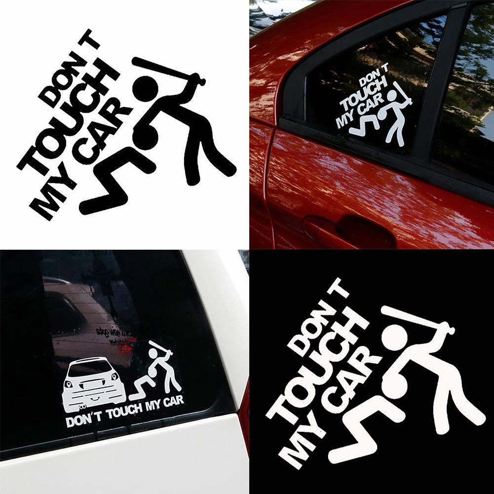 Креативные забавные светоотражающие наклейки с надписью «Don't Touch My Car»