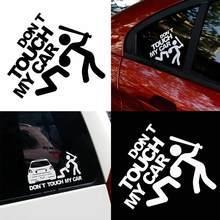 Criativo engraçado não toque meu carro veículo reflexivo decalques adesivo decoração