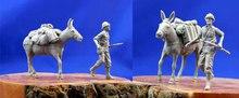 1/35 zestaw figurek z żywicy Unassambled Unpainted 1011