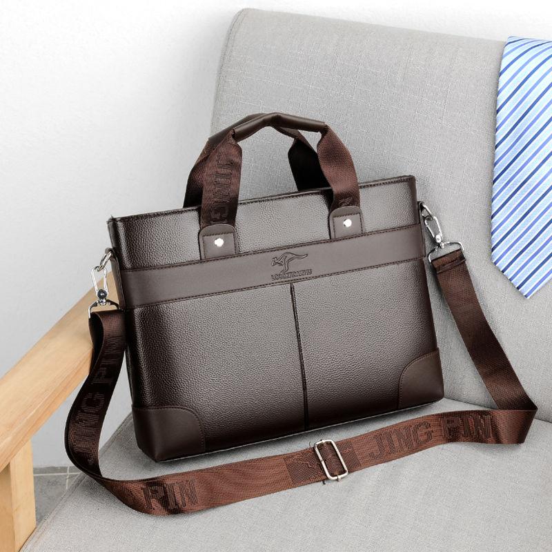 2019 Business Men's Bag Briefcase Black Casual Handbag PU Leather Briefcase Men Shoulder Bags High Quality Office Bags For Men