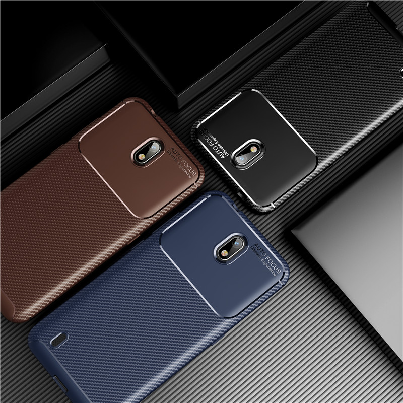 Carbon Fiber Cover For Nokia C1 Case Soft Housings Protective Fitted Back Bumper For Nokia C1 C 1 Phone Case Funda 5.45\'\'