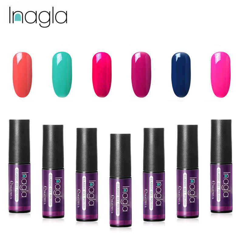 Inagla 60 Colors Gel Varnish 5ML Classic Gel Polish Nail Art Design Soak Off LED UV Gel Nail Polish Vernis Semi Permanent