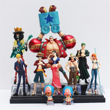 10pcs/set Free Shipping Japanese Anime One Piece Action Figure Collection 2 YEARS LATER luffy nami roronoa zoro hand-done dolls цена 2017