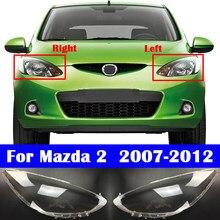 مصباح السيارة الأمامي الزجاج كشافات غطاء للعدسات لمازدا 2 2007-2012 سيارة العلوي قذيفة غطاء مصباح غطاء شفاف ضوء