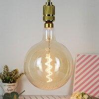 G200 Large Size Edison Bulb Soft Filament Single Spiral Large Size Chandelier Light Source Warm Lighting LED Energy saving Light