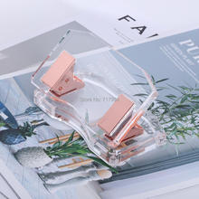 Acrylic Rose Gold curved  hole punch  stationery by Draymond Story