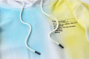 18ss Off-White OW Rendering Нью-Йорк, мужские модели влюбленных пар, осенне-зимняя хлопковая Повседневная Свободная куртка с капюшоном, толстовка с капюшоном