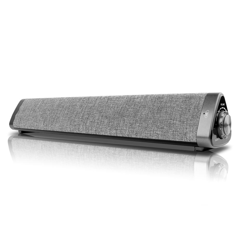 LP-1811 sans fil Bluetooth 5.0 haut-parleurs 10W Portable haut-parleur TV barre de son 3D stéréo Home cinéma à distance AUX TF carte pour PC Portable