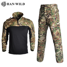 HAN WILD Army Military Uniform BDU Camouflage Breathable Combat Suit Airsoft Clothes Set Quick Drying Shirts + Tactical Pants new men combat shirts proven tactical clothing military uniform cp camouflage airsoft hunting army suit breathable work clothes