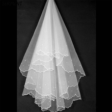 SERMENT Cathedral Wedding Veil Lace Edge 150cm  One-Layer Shoulder Length Accessories