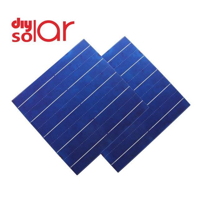 Bộ 50 DIY Tấm Pin Năng Lượng Mặt Trời Poly Tinh Thể Silicon Sunpower Tự Làm Tế Bào Năng Lượng Mặt Trời Sạc Pin Ngoài Trời Đèn LED Dây 156 5 6 9 12 18 V