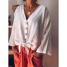Solid Color Long Sleeve Shirt Fashion Maternity Tops and V-neck  Blouses Boho Women Clothing Wear Shirts