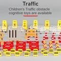 62 шт. автомобильные аксессуары, дорожный знак, модель дорожного движения, креативная игрушка, Diy, городская парковка, скрипт, развивающие игр...