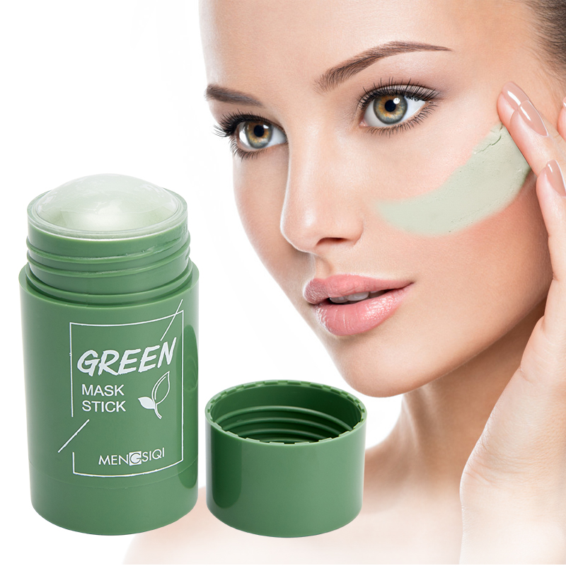 Зелёный Чай Очищающий однотонные Очищающая Маска масло против угрей Управление Красота кожи отбеливание, увлажнение, гидрация уход за лицо...