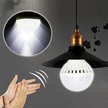Горячая E27 Звуковой Датчик автоматический светильник 3-12 Вт ампула 220 В 6500 к PIR датчик движения умный светодиодный светильник
