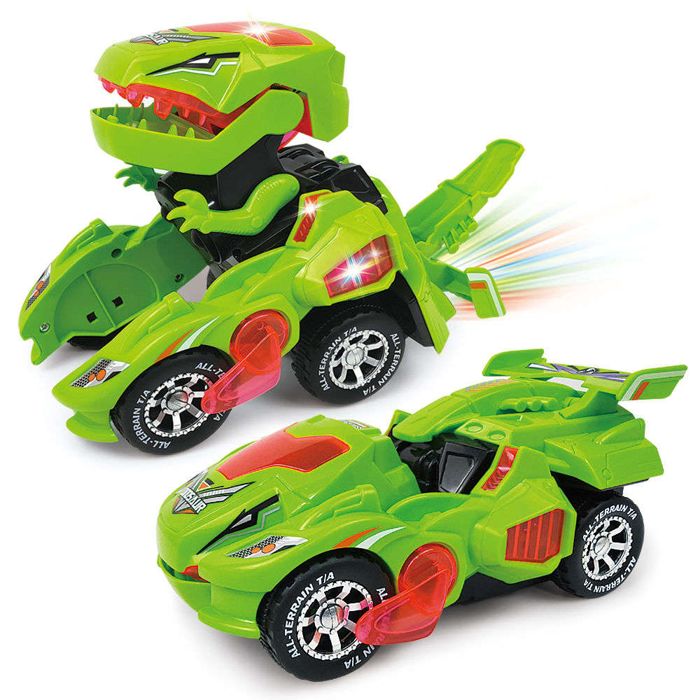 Newest Dino Deformation Car Toy With Sound Light Action Machine Armour Deform Dinosaur Toys For Kids High Quality