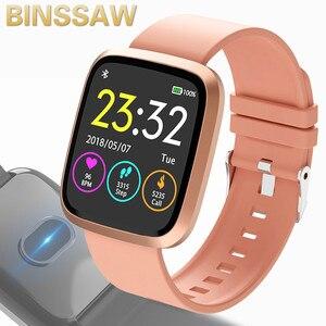 Image 1 - BINSSAW kadınlar akıllı saatler egzersiz kalp atışı takip cihazı IP67 su geçirmez spor akıllı bileklik erkekler renkli ekran Alarm bilezik