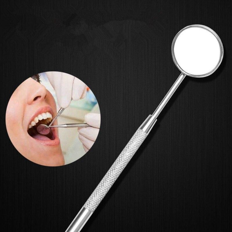 Стоматологические зеркальные инструменты из нержавеющей стали, прибор для очистки рта, зубов, отбеливания зубов, гигиены полости рта