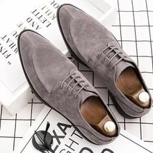 Men pu Leather Shoes Lace Up Casual Shoes
