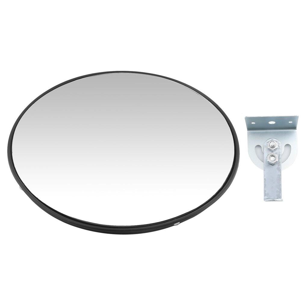 30cm Diameter Road Traffic Convex Mirror Vandal Resistance Wide-Angle Mirror Underground Garage Reversing Looking Glass