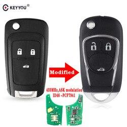 KEYYOU zmodyfikowany samochód Alarm pilot zdalnego sterowania nadające się do Chevrolet Malibu Cruze Aveo iskra żagiel 2/3/4 przyciski 433MHz Auto Car Key w Kluczyki samochodowe od Samochody i motocykle na