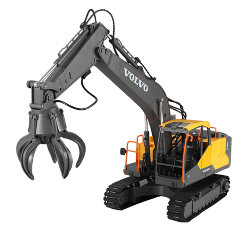 RC Excavator 1:16 Excavator 17CH Big RC Trucks Simulation Excavator Electric Remote Control Vehicle Toy For Boys Kids Gift
