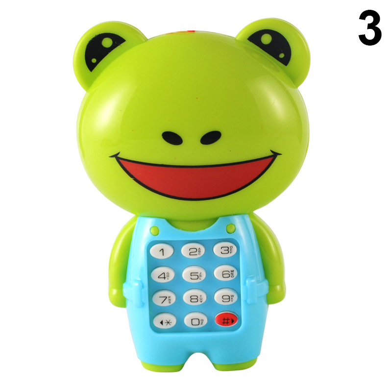 Hot Sale Baby Electronic Phone Toy Children Cartoon Light Flashing Music Mobile Phone Toy