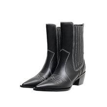 Osunlina ковбойские ботинки с острым носком в стиле ретро ботильоны