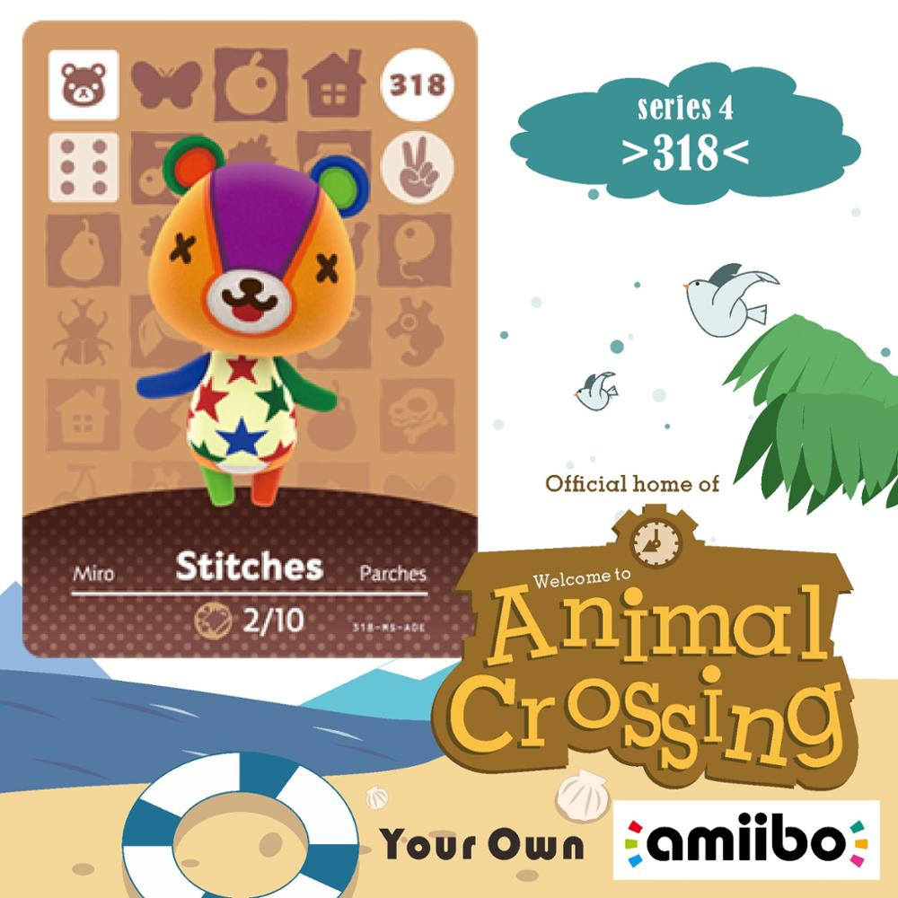 Stitches Animal Crossing 318 Welcome Amiibo Stitches New Horizons Villager Card Amiibo Animal Crossing Stitches 318 Series 4