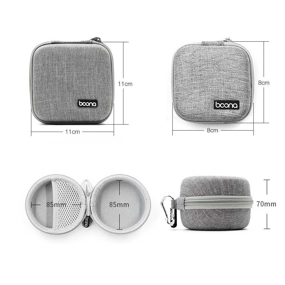 Taşınabilir Mini cüzdan bozuk para çantaları fermuar kulaklık tel kulaklık kılıfı USB kablosu çanta düzenleyici Carte kulakiçi vaka çanta