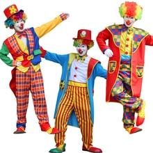 цена Umorden Halloween Costumes Adult Fun Funny Circus Clown Clothes Naughty Harlequin Uniform Costume Cosplay Costume Male онлайн в 2017 году