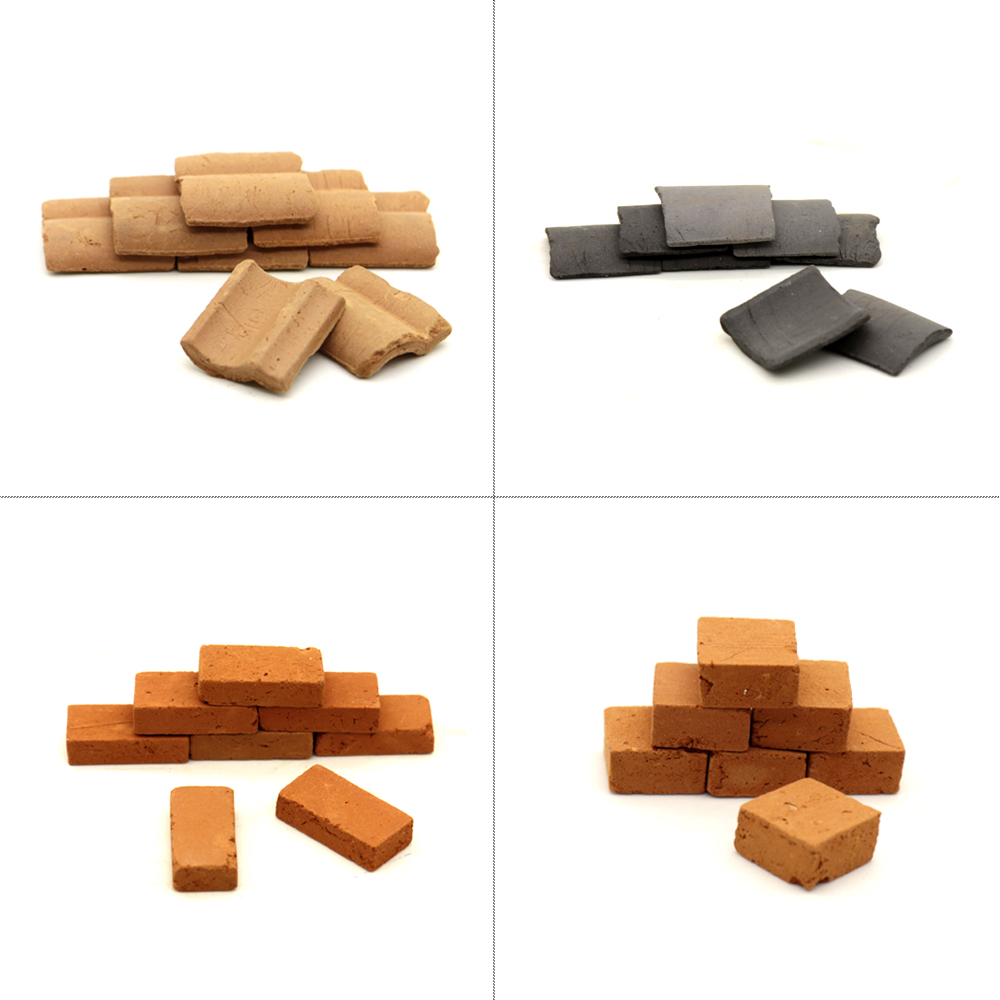 Red Tile Hand-made DIY Sand Table Scene Material Of Modern Architecture Miniature Model Modern Architecture Sand Table Display