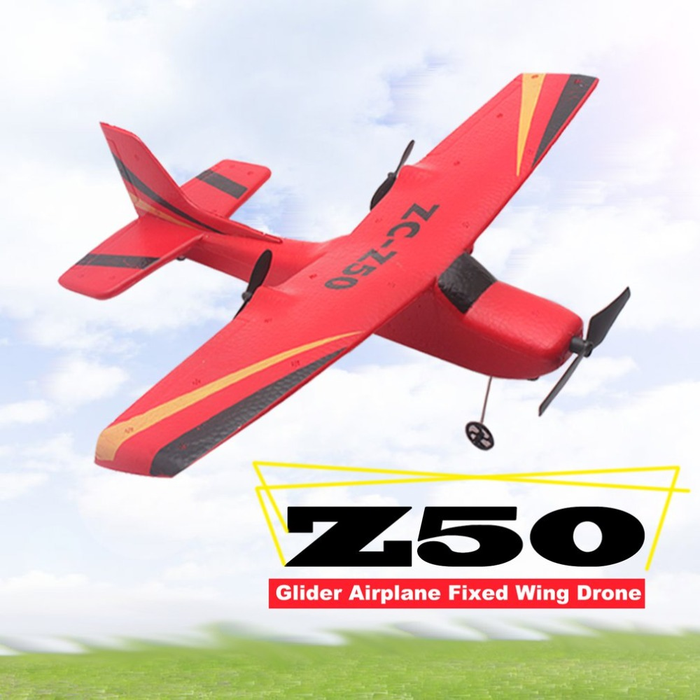 2019 Z50 2.4G 2CH 350mm Micro Wingspan Remote Control RC Glider Airplane Plane Fixed Wing EPP Drone with Built-in Gyro for Kids image