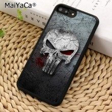 MaiYaCa THE PUNISHER SKULL METAL Phone Case For iPhone X XR XS 11 Pro MAX 5 6S 7 8 Plus Samsung Galaxy S6 S7 S8 S9 S10(China)