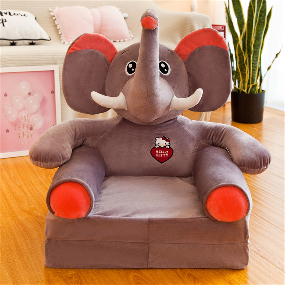 Baby Kids Sofa Only Cover NO Filling Cartoon Crown Seat Children Chair Neat Puff Skin Toddler Children Cover For Sofa Folding