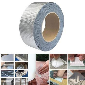 Aluminum Foil Butyl Rubber Tape Self Adhesive Waterproof Magic Water Pipe Repair Caulking Super Fix Duct Tape Tools Repair Tape