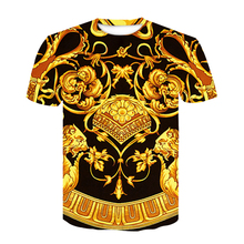 Baroque shirt new summer T-shirt 3D digital print T shirt men/women vintage luxury royal floral prin