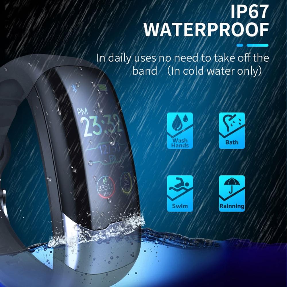 lowest price ECG PPG Smart Bracelet HRV Heart Rate Blood Pressure Monitor Smart Band Men IP67 Waterproof Running Swimming Sport Wristbands
