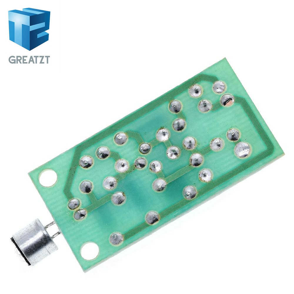 GREATZT módulo transmisor FM Mini micrófono inalámbrico de Radio Frecuencia de PCB Junta 91-103MHz 3 V-5 V DC para DIY