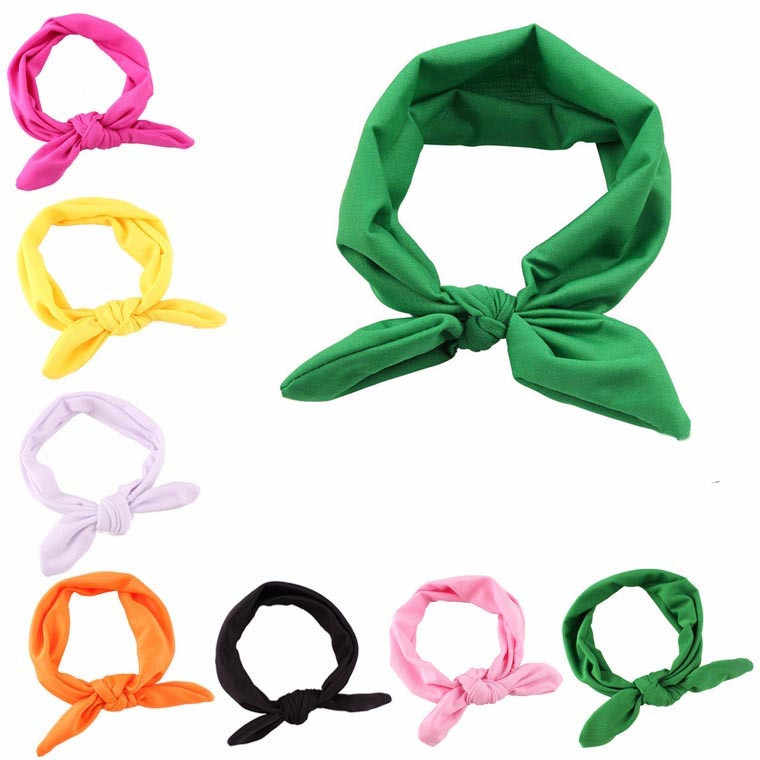 solid Yoga Elastic Hairband bow knot Women headband Knotted Rabbit hair accessories  Spa Bath Shower Make Up резинки для волос