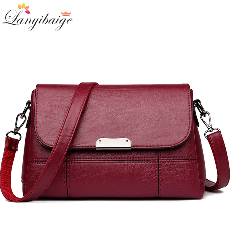 LANYIBAIGE Crossbody Bags For Women 2020 Shoulder Bag Female Leather Flap Cheap Women Messenger Bags Small Bolsa Feminina